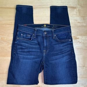 7 for all mankind the ankle skinny jeans size 28